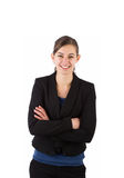 Young attractive business woman smiling Royalty Free Stock Image