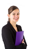 Young attractive business woman smiling Royalty Free Stock Photography