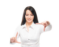 Young and attractive business woman working  Royalty Free Stock Photo