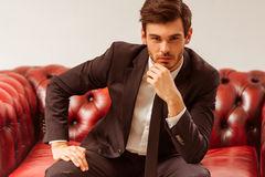 Young attractive businessman Royalty Free Stock Photo