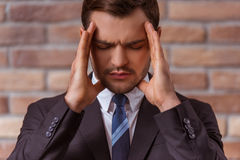 Young attractive businessman Stock Photos