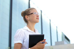 A young and attractive businesswoman Royalty Free Stock Image