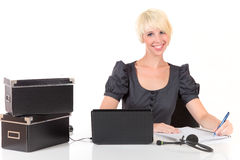 Young attractive businesswoman Royalty Free Stock Photos