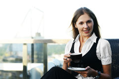 A young and attractive businesswoman Stock Photos