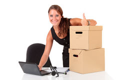 Young attractive businesswoman Stock Photo