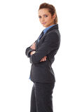 Young attractive businesswoman with crossed arms Stock Photos