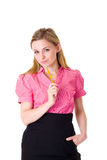 Young attractive businesswoman, decision concept Royalty Free Stock Photos