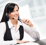 Young and attractive businesswoman with an electronic cigarette Stock Images