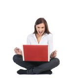 A young and attractive businesswoman with a laptop Stock Image