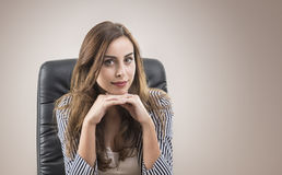 Young attractive businesswoman posing Royalty Free Stock Images