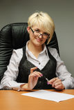 Young attractive businesswoman Stock Photography