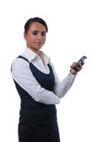 Young attractive businesswoman using mobile phone Stock Image