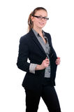 Young attractive businesswoman wearing glasses Royalty Free Stock Image