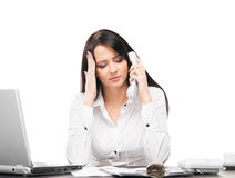Young and attractive businesswoman working in the office Stock Photography