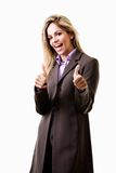 Young attractive caucasian blonde businesswoman Stock Photos