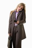 Young attractive caucasian blonde businesswoman Royalty Free Stock Photo