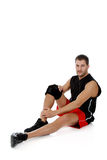 Young  attractive caucasian man athlete Royalty Free Stock Photography
