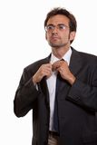 Young attractive caucasian man in business suit. In his twenties Royalty Free Stock Photography