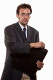 Young attractive caucasian man in business suit Stock Photos