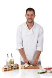 Young attractive chef caucasian Stock Photos
