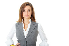 Young attractive and confident businesswoman Stock Images