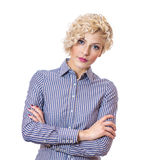Young attractive confident businesswoman Royalty Free Stock Images