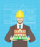 Young attractive construction manager Royalty Free Stock Photos