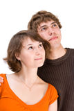 Young attractive couple Royalty Free Stock Images