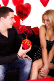 Young  attractive couple  romantic date Stock Images