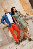 Young attractive couple in summer fashion Royalty Free Stock Image