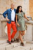 Young attractive couple in summer fashion Stock Images
