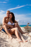 Young attractive couple in summer holiday Stock Photos