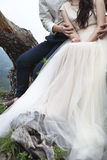 Young attractive couple together outdoors Royalty Free Stock Photography