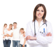 Young attractive family doctor Royalty Free Stock Images
