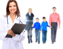 Young attractive family doctor Stock Images
