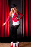 Young and attractive female circus artist Royalty Free Stock Images