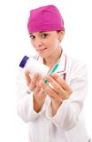 Young attractive female doctor Royalty Free Stock Photos