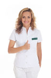 Young attractive female doctor Stock Image
