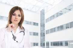 Young and attractive female doctor Royalty Free Stock Images