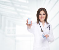 A young and attractive female doctor Stock Photography