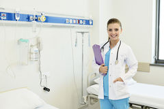 Young attractive female doctor nurse royalty free stock photo