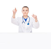 Young and attractive female medical worker Stock Photography