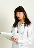 Young attractive female nurse or doctor Stock Photo