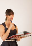 Young attractive female office worker Stock Photos