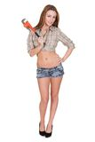 Young Attractive Female Plumber Royalty Free Stock Photo