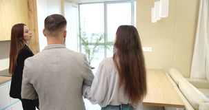 Realtor Showing Couple New Flat