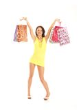 A young and attractive female with shopping bags Stock Photo