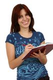 Young attractive female student Stock Images