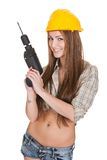 Young Attractive Female Worker Stock Photo