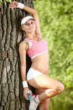 Young attractive fitness woman Stock Images